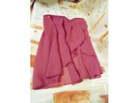 1st Position American Ballet Theatre Dance Wrap over Dance Skirt. Raspberry. Age 9-10yrs