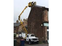 CHERRY PICKER HIRE £150 PROPERTY MAINTENANCE/PAINTING/GUTTERS/SOFFITS WEST END ALL AROUND GLASGOW