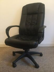 EXECUTIVE OFFICE PADDED LEATHER HIGH BACK CHAIR;OFFICE , GAMING , STUDY