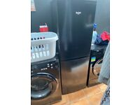 Bush black fridge freezer excellent condition