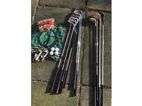 Golf set - driver, chipper, putter, tees, balls, gloves. Ideal for beginner.