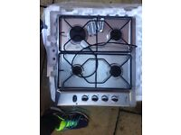 Whirlpool Stainless Steel gas hob - good used condition