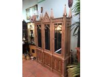Large gothic style display cabinet