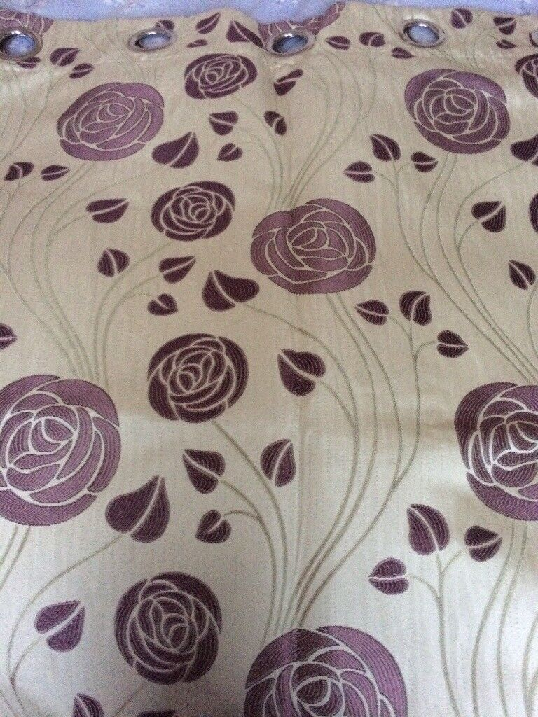 Charles Rennie Mackintosh Design Curtains 1 Pair In