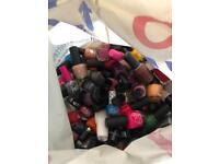 Bag of used nail polishes