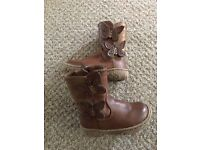 Brown butterfly boots