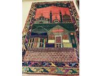 Vintage handmade wool rug. 190cm x122cm.