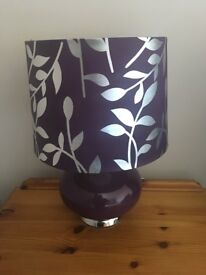 X2 purple table lamps