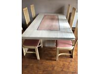 Marble slab Dining Table,Includes 6 Chairs