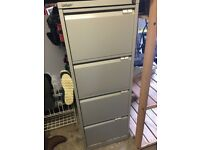 Filing Cabinet Metal 4 drawer x2 with some suspension files £25 each or 2 for £45