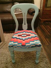 Pretty Victorian boudoir chair.