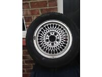 OLD RETRO ALLOY WHEELS 15in FITTED TO BMW 5 SERIES AND 3 SERIES BIT LIKE BBS