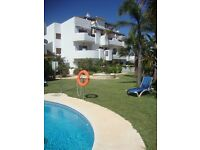Spain between Marbella and Estepona. Apartment (2 bedrooms) to rent close to beach and amenities.