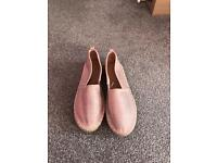 Pink dimante slip on shoes size 4