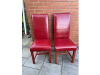 2 x high back dining chairs.