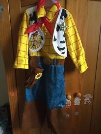 Disney toy story woody fancy dress costume 3-4 years