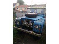 1973 Blue Land Rover Series 3 III - SWB Short Wheel Base - 200tdi Engine - New Exhaust - Tax Exempt