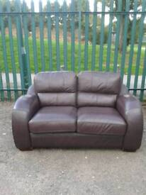 2 Seater Leather Sofa (delivery available)