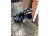 Taylormade and Titleist golf clubs