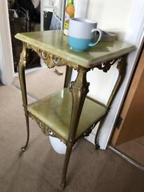 Marble and Metal stand table