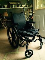 Nighthawk adjustable back wheel chair