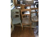 5 old chairs