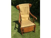 Victorian Antique Commode Chair