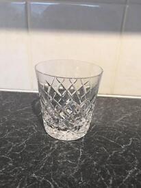 Set of six royal crystal rock glasses