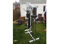 Iron man multi gym with 200lb weight stack