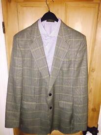 Daks Mens Wool Tweed Blazer Hunting Suit Jacket 46R Large XL