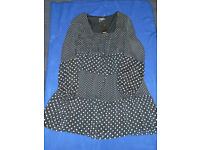 PAPAYA LADIES DOTTED BLACK DRESS (NEW WITH TAG) - SIZE 14