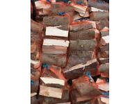 Logs in nets, mixed hardwoods perfect firewood