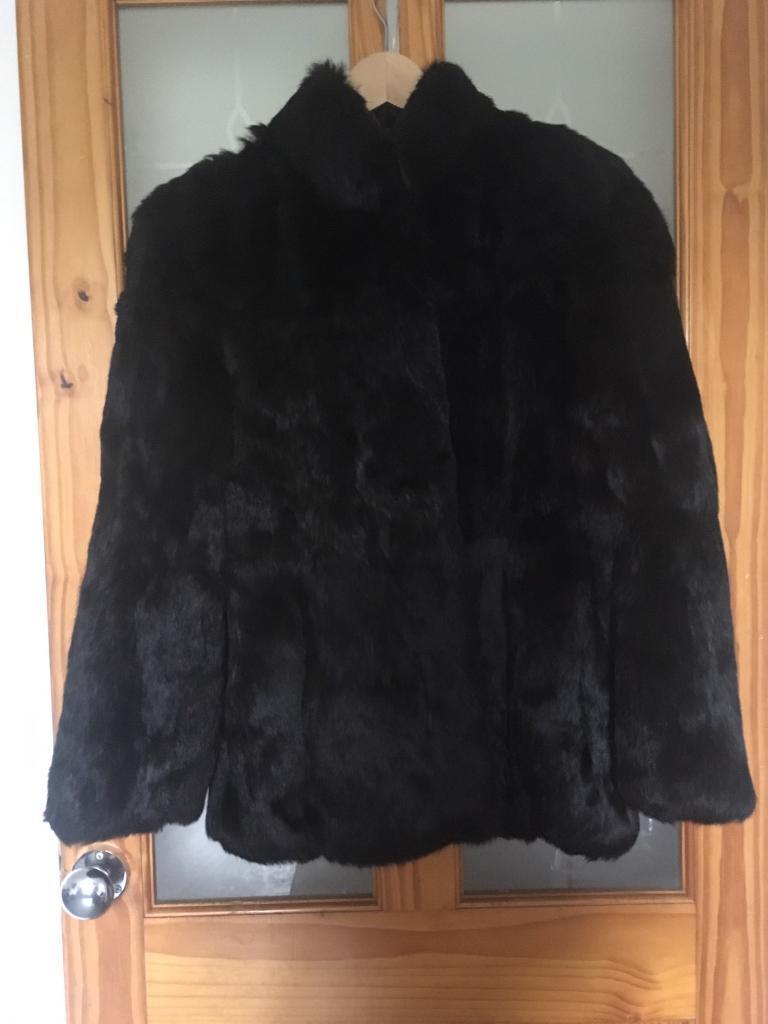 Edelson real rabbit fur coat