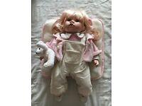 The Leonardo Collection Porcelain Baby Doll - Ellie