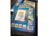 A2 presentation display book