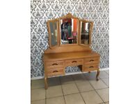 dressing table Oak Louis XV, French style