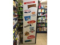 Husky glass door upright freezer foods