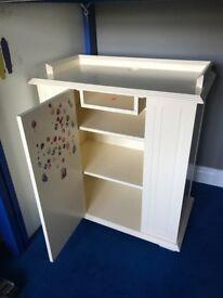 Handmade Ivory/Cream Cupboard / TV Unit