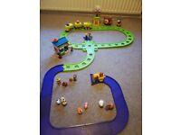 ELC Happyland bundle Inc train, tracks, farm, shop and figures