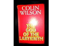 Colin Wilson The God of the Labyrinth 1st Ed 1970 Original DW Novel book