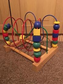 Children's bead roller coaster