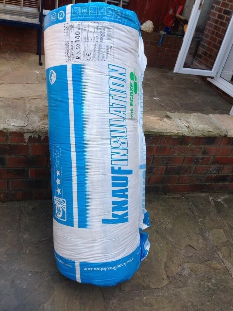 24 x rolls of Glass Mineral Wool insulation - Knauf Insulation Earthwool  Factoryclad 40 | in Northallerton, North Yorkshire | Gumtree