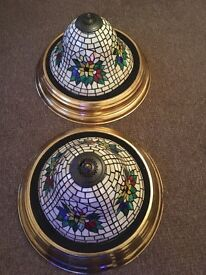 Extra large light shades Tiffany style stained glass