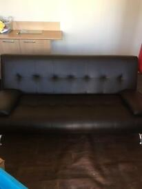 Like new brown sofa bed