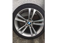 Genuine 18 inch BMW Alloys and Tyres