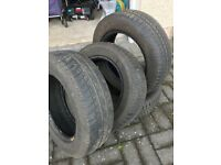 Car Tyres part worn (4)