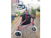 3 wheel Rollator Walker (Walking Aid)
