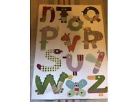 Children's alphabet wall stickers