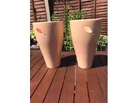 New large peach ceramic planters/ pots. £6 each