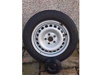 VW Transporter T5 Original Steel Wheels including Tyres.